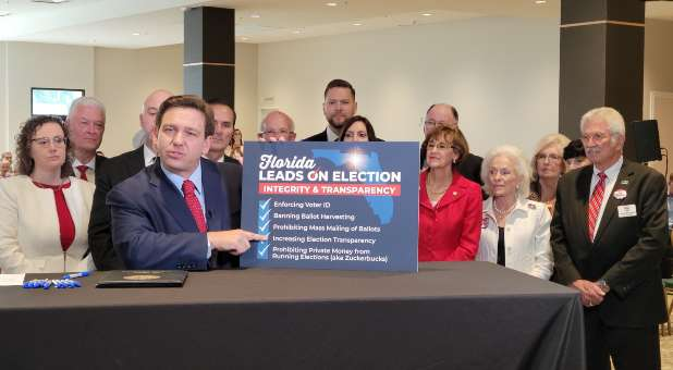 Gov. DeSantis Signs New Voter Law to Increase Transparency, Security