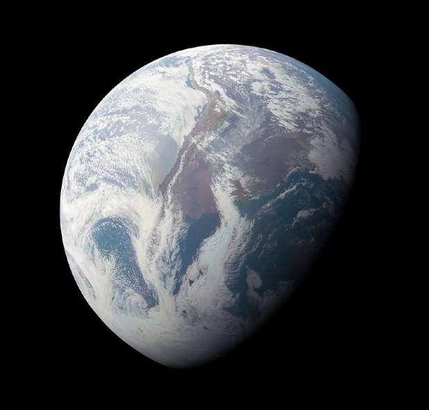 Earth NASA JPL Caltech SwRI MSSS Kevin M