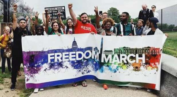 Ex-LGBTQ Members Hold 'Freedom March' Near Washington Monument to Testify to God's Salvation and Deliverance