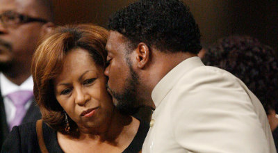 Eddie Long with wife, Vanessa