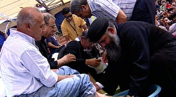 foot washing in Egypt