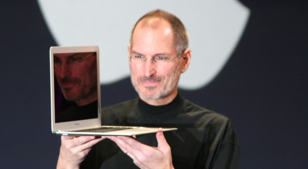 Steve Jobs with a Macbook Pro