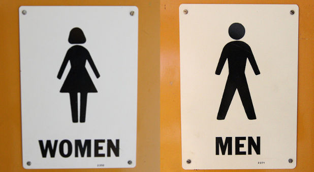 Bathroom Signs In Scotland police probe guard for barring trans man from female toilets