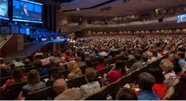 Bellevue Baptist Church in Memphis, TN has over 30,000 members.