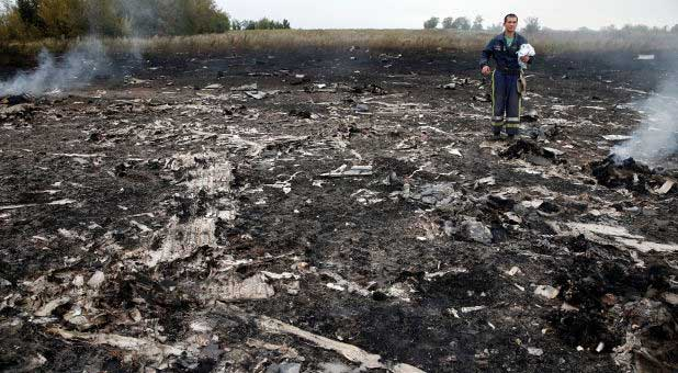 Malaysia Airlines crash site