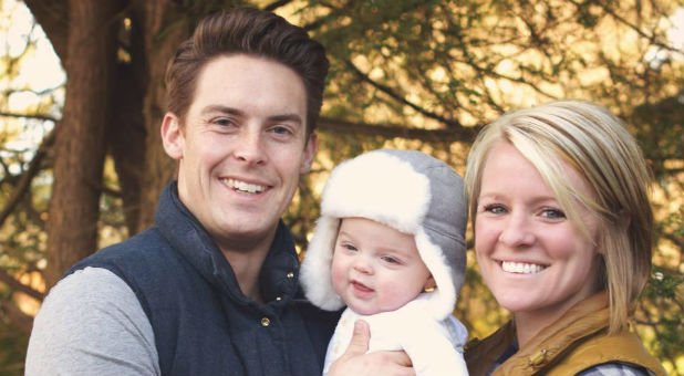 Davey and Amanda Blackburn with their son, Weston.