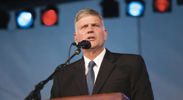 Franklin Graham renounces any affiliation with the Republican Party.