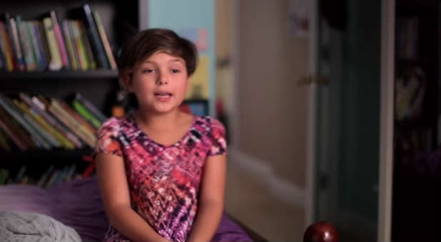 One of the children featured in 'Growing Up Trans.'