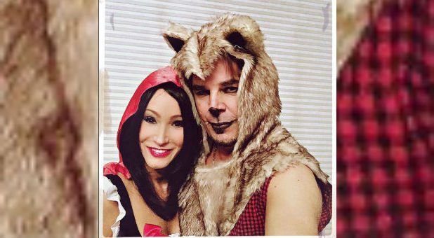 Paula White and Jonathan Cain on Halloween.