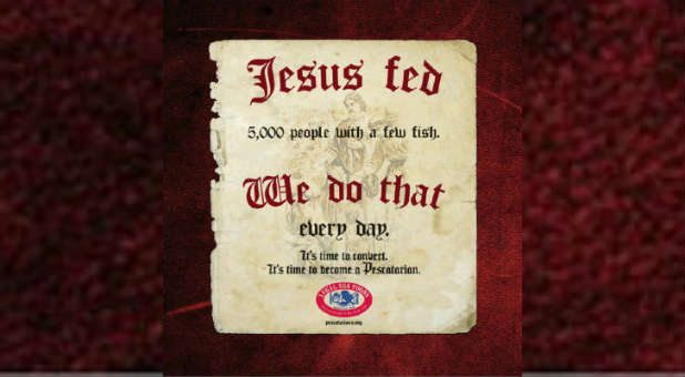 Is the ad campaign for Legal Sea Food blasphemous?