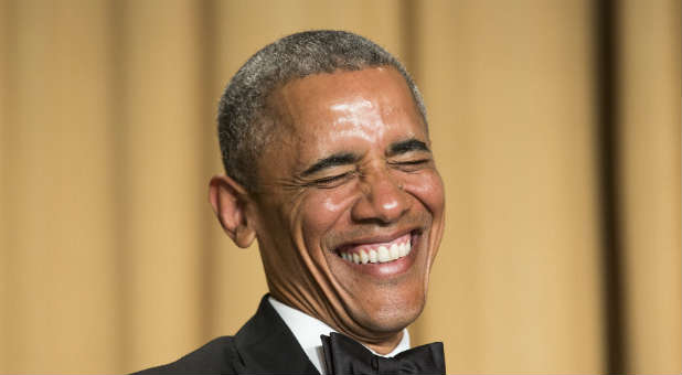 Image result for Laughing Obama
