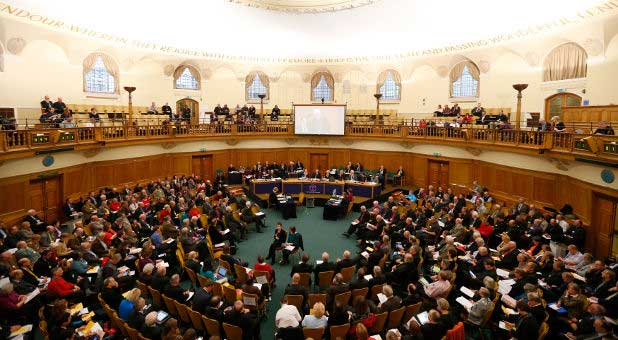 The Church of England Synod meets at Church House in central London.