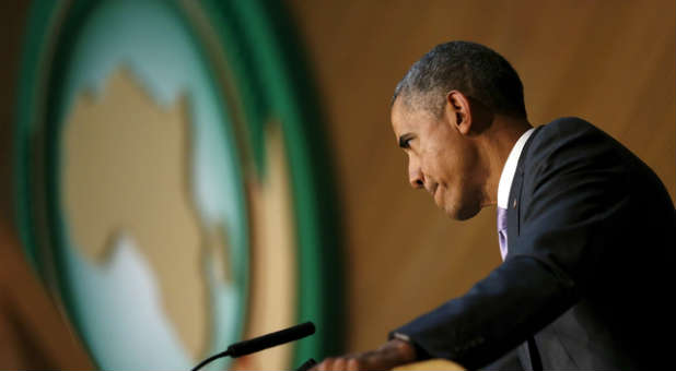 President Obama told African leaders he believes he would win a third term.