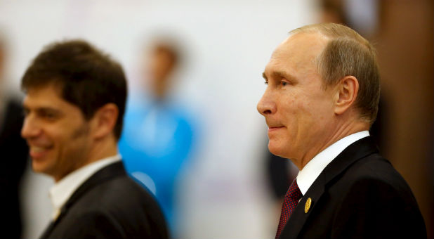 Russian President Vladimir Putin arrives at the Global 20 Summit.