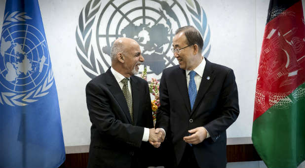 Ban Ki-moon, right, is the secretary general of the United Nations.