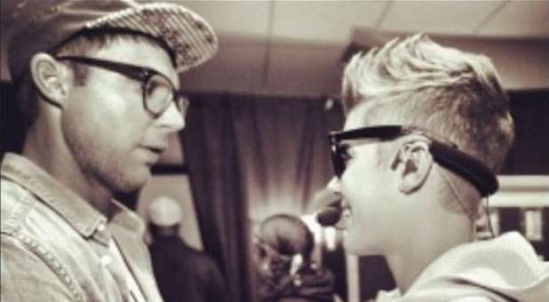 Justin Bieber with former pastor Judah Smith.