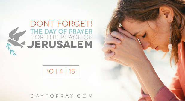 The Day of Prayer for the Peace of Jerusalem is set for October 4.