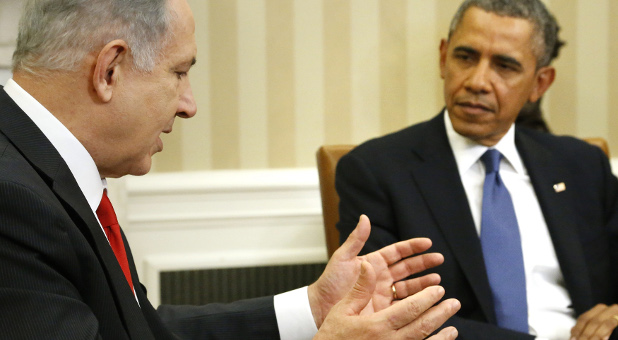 How close is President Obama (r) to severing diplomatic ties with Israel and Prime Minister Benjamin Netnayahu?