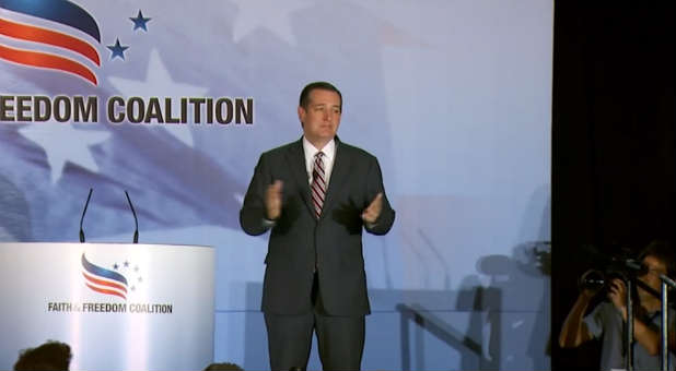 Ted Cruz speaking at Faith & Freedom Conference