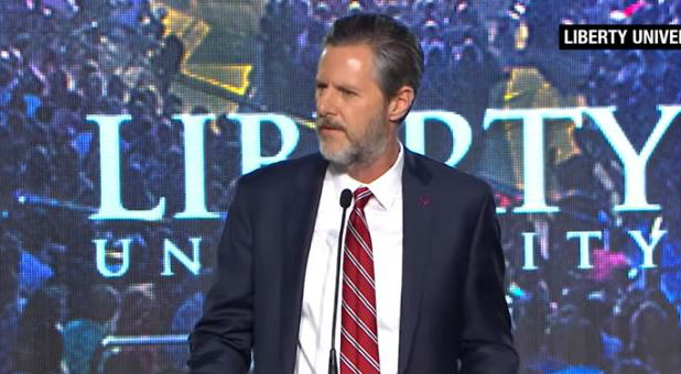 Jerry Falwell Jr. told Liberty University students he supported them arming themselves.