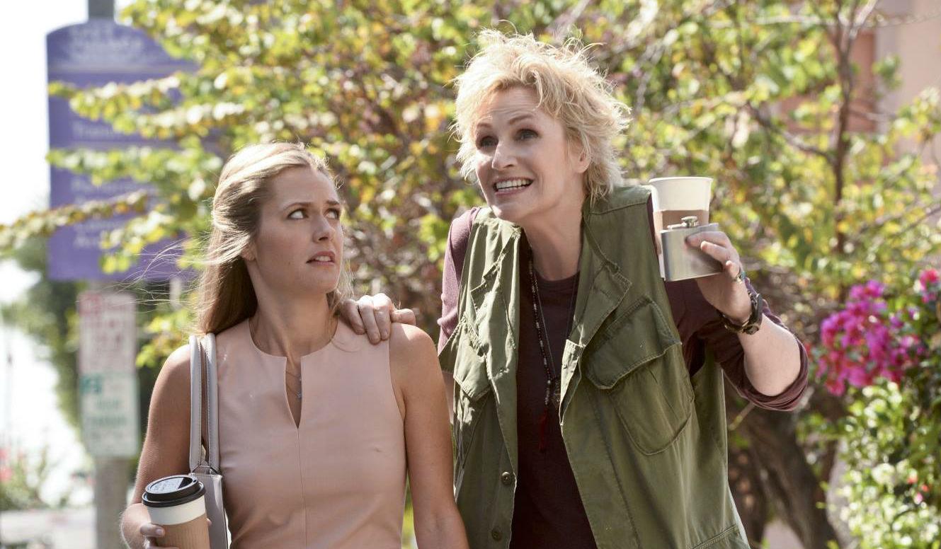 Jane Lynch, right, in 'Angel from Hell.'