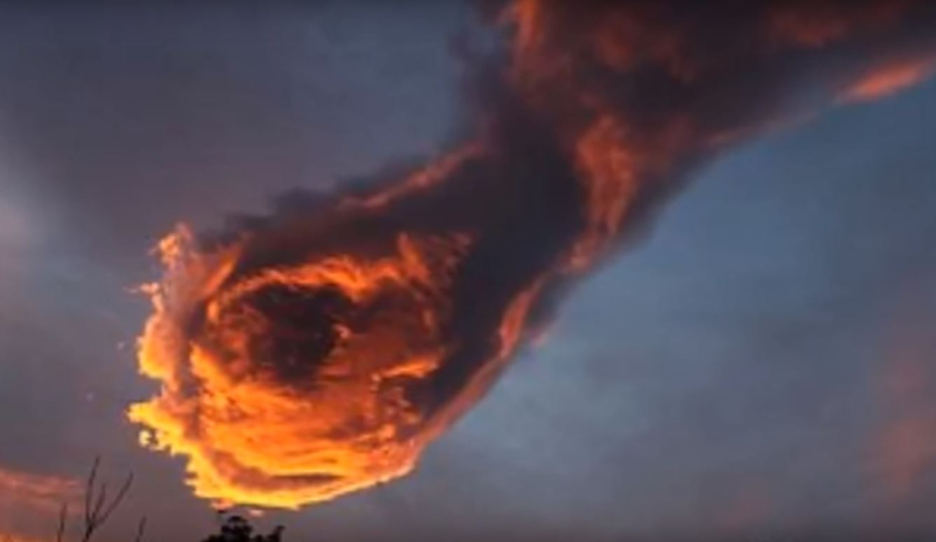 Some believe this cloud is the mighty fist of God.