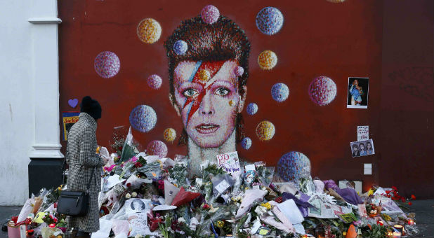 A mural depicting the now deceased David Bowie.