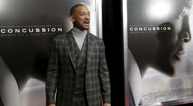 "Will Smith at the premiere of ""Concussion."""
