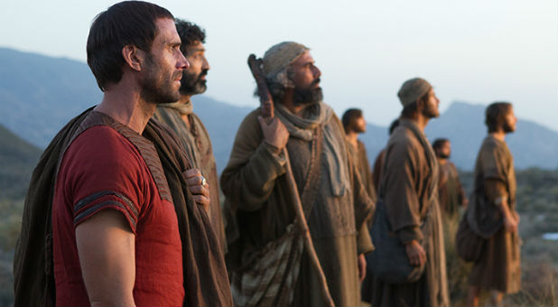 Joseph Fiennes as Clavius, far left.