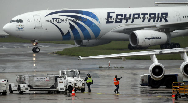 "An EgyptAir jet carrying 66 passengers and crew from Paris to Cairo disappeared from radar over the Mediterranean sea on Thursday after swerving in mid-air and plunging from cruising height. French President Francois Hollande confirmed the aircraft ""came down and is lost""."