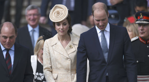 Britain's Catherine, the Duchess of Cambridge and Prince William