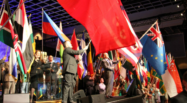 The Parade of Nations, featuring 135 flags representing nations where the Church of God of Prophecy is ministering in, is a celebration of unity.