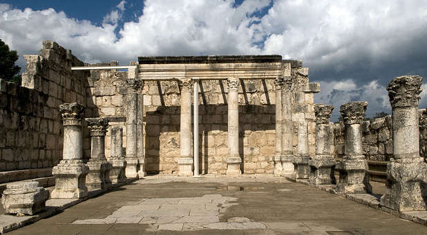 Ancient Ruins of the Great Synagogue at Capernaum