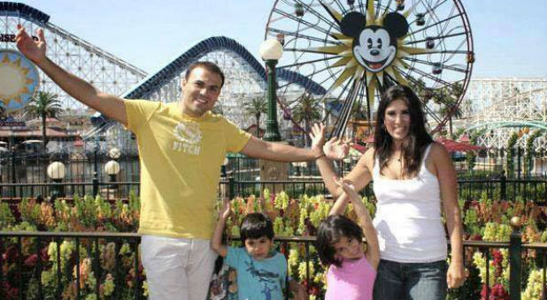 Saeed, far left, and Naghmeh Abedini, far right, have filed for divorce.