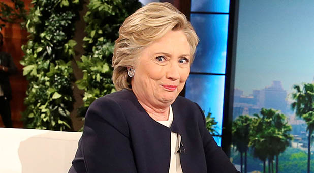 Image result for smirking Hillary Clinton