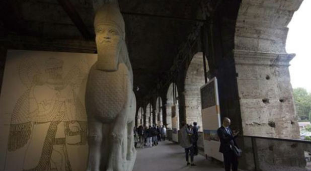 The Winged Bull Of Nimrod And Part Of The Temple Of Baal Are Being