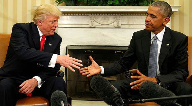 President-Elect Trump and President Obama
