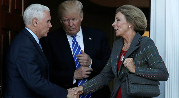 President-Elect Donald Trump, Vice President-Elect Mike Pence, and Secretary of Education-Designate Betsy DeVos