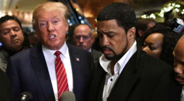 Donald Trump with supporter, and now transition team member, Dr. Darrell Scott.