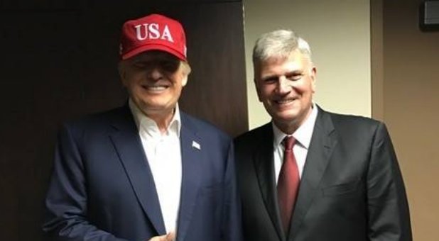 President-elect Donald Trump meets with evangelist Franklin Graham.