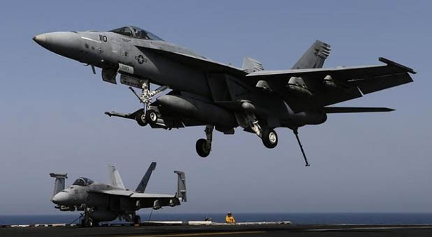 U.S. Navy F-18A Hornet attack fighter
