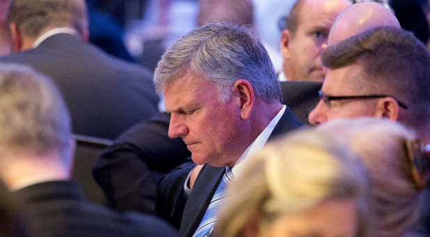 Franklin Graham attends the National Prayer Breakfast.