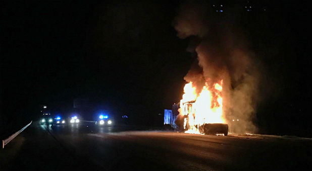 We Are Messengers' bus exploded into flames after a crash.
