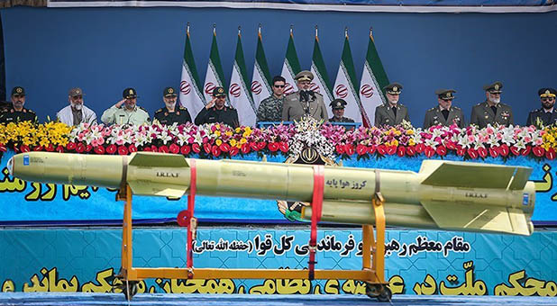 Iranian Cruise Missile on Display