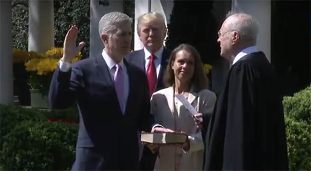Neil Gorsuch is sworn in as the newest justice on the Supreme Court of the United States.