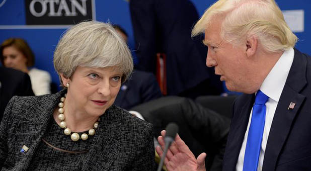 President Donald Trump and British Prime Minister Theresa May