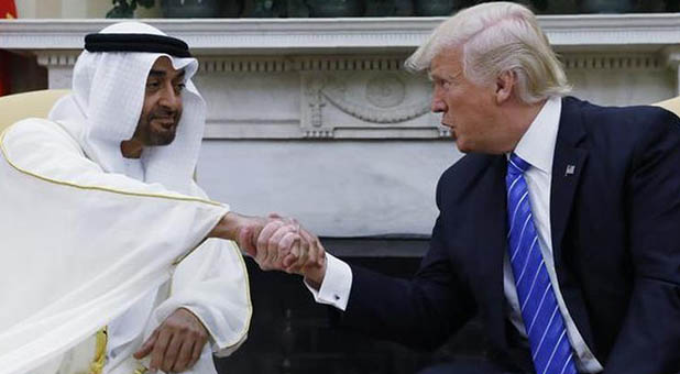 President Donald Trump and UAE Crown Prince Sheikh Mohammed bin Zayed al-Nahyan