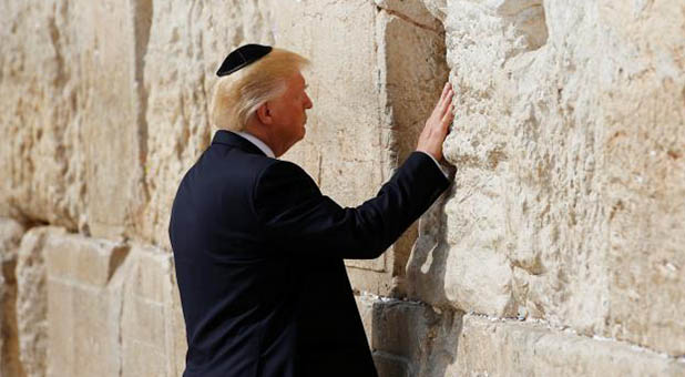 President Donald Trump Praying at the Western Wall