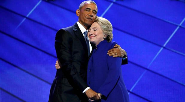 President Obama and Former Secretary of State Hillary Clinton