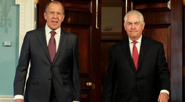 Secretary of State Rex Tillerson and Russian Foreign Minister Sergey Lavrov